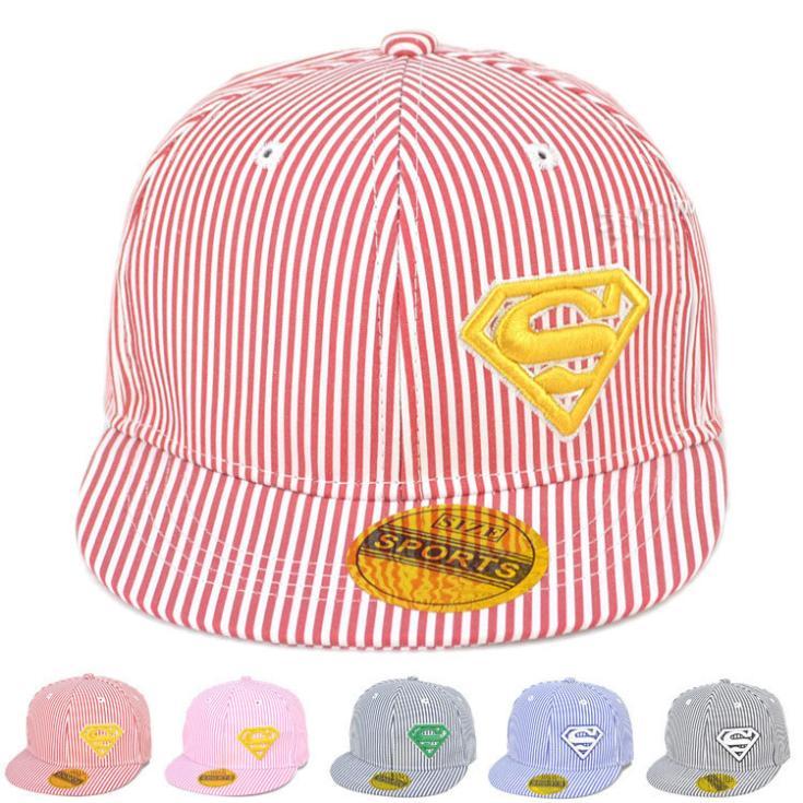 New Stripped S Letter Design Children Spring&Summer Snapback Cap Baby Baseball Cap Boys&Girl Beret Sun Hat 1pc MZC-15007(China (Mainland))