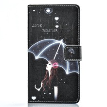 New Fashion mobile phone Cartoon Colorful Paint Pattern Wallet Case For Huawei P9lite Flip PU Leather Cover Stand With Card Slot