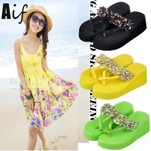 2016 женщина сандалии и вьетнамки мода сандалии повелительниц удобную обувь цветочный ...