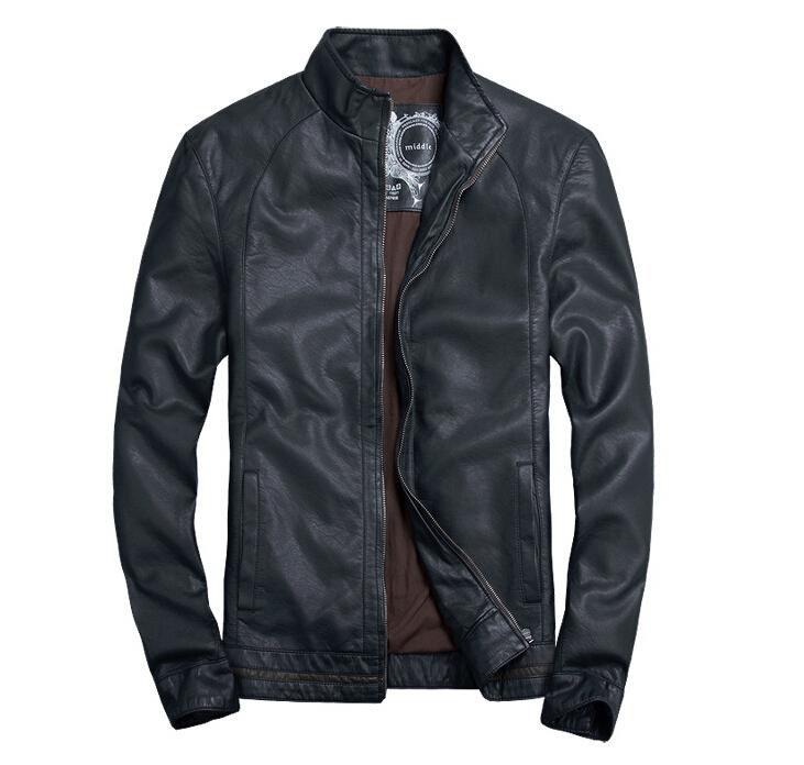 brand men plus size 5XL motorcycle leather jacket coats jaqueta couro male jackets and coats jaqueta de couro masculina