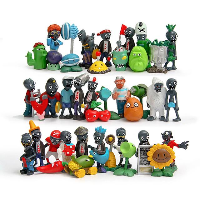 Горячие Классические игрушки полный набор 40 шт. растения против зомби игры играть 2 ПВХ Фигурку игрушки для детей подарок Бесплатную доставку