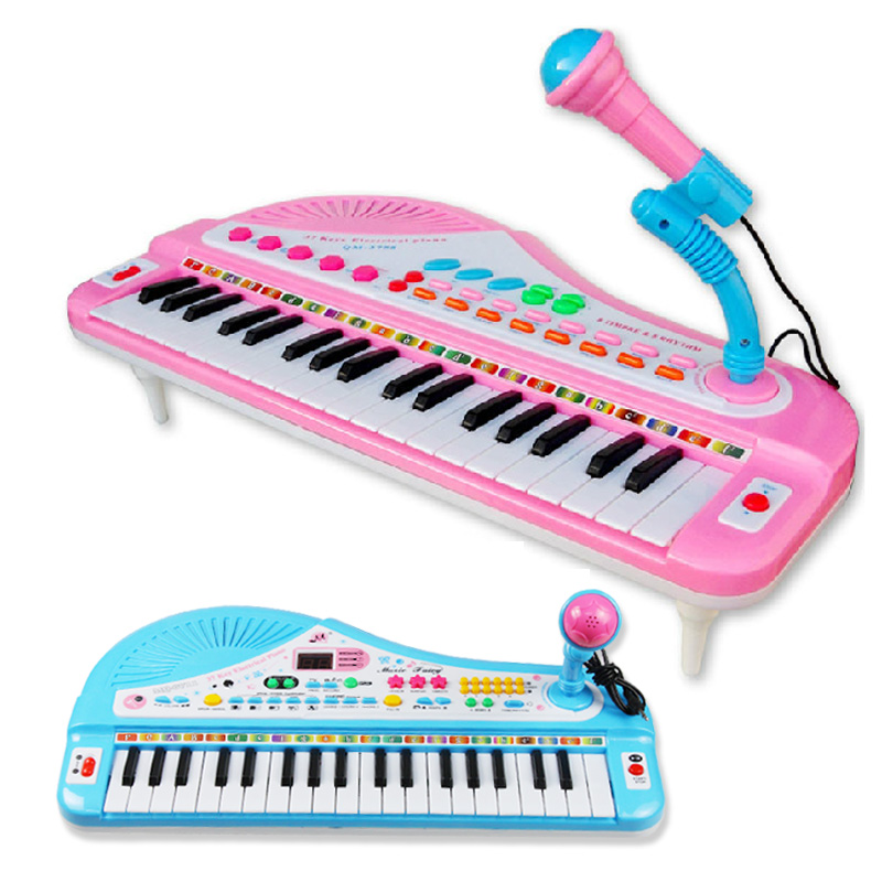 2015 Real New Instrumentos Musicais Infantil Baby Toy Electronic Piano Child Orgatron Belt Educational Toys 37 Key Hindchnnel (China (Mainland))
