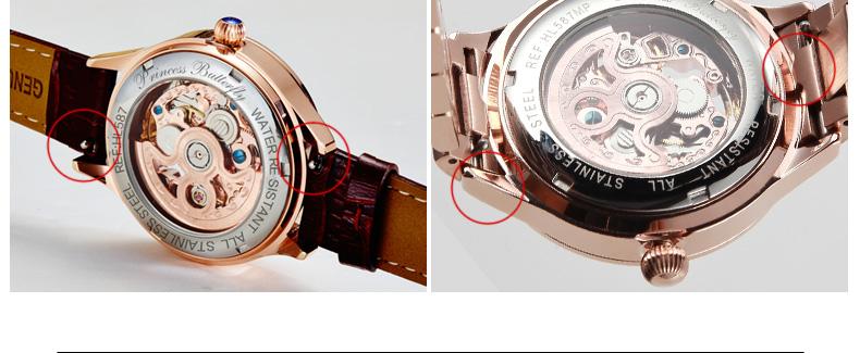 PB Эксклюзивная Модная Марка Смотреть Женщины Платье Кварцевые Часы Из Натуральной Кожи Механические Женские Часы HL598