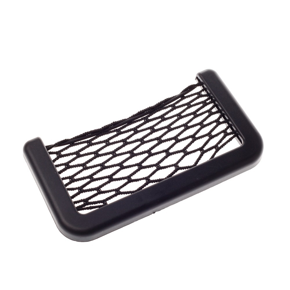 Jian Yan Universal Car/Vehicle Storage Net Bag Phone Holder Pocket Organizer Black(China (Mainland))