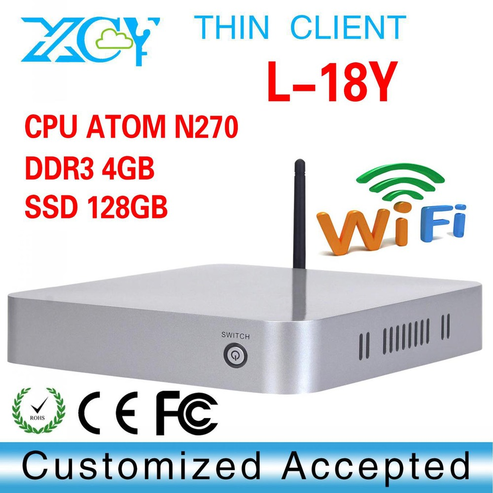 mini industrial computer Intel Atom N270 embedded pc, XCY thin client mini pc(China (Mainland))