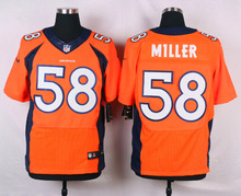 Top A Denver Broncos Peyton Manning,Von Miller,DeMarcus Ware,Demaryius Thomas,Derek Wolfe,Paxton Lynch with the 50th SB patch(China (Mainland))