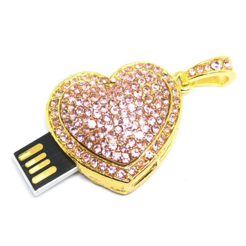 jewelry usb driver red heart 4gb 8gb 16gb 32gb crystal usb flash drive usb gadgets usb flash memory disk pendrive card pendrives(China (Mainland))