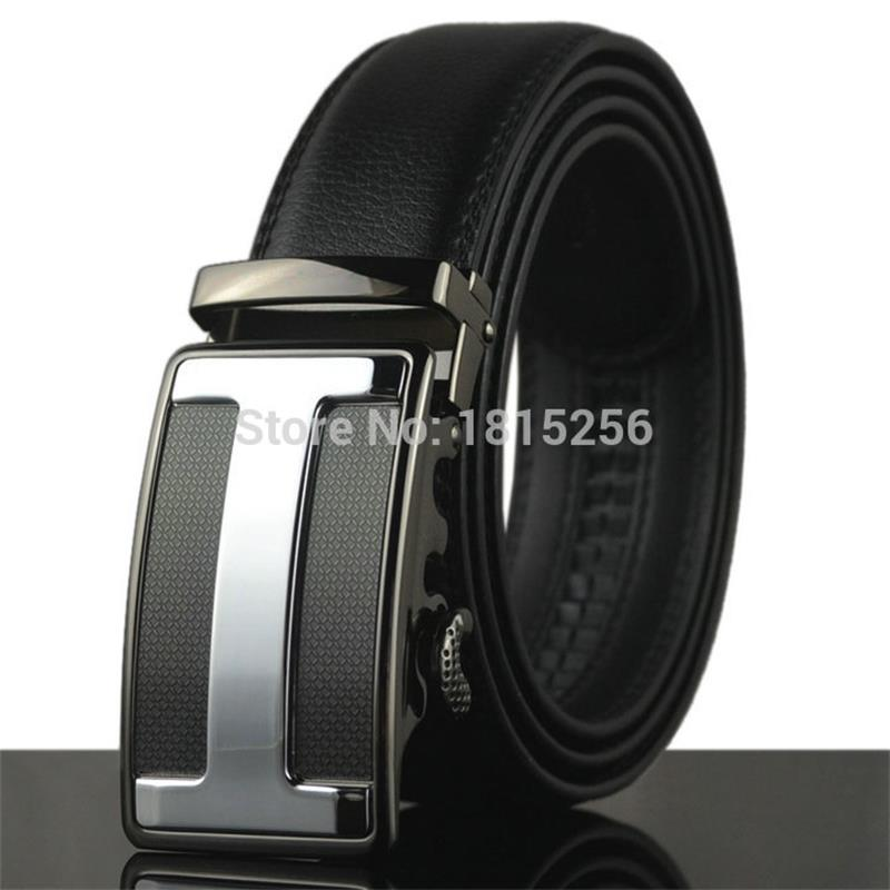 NEW Automatic buckle belts G H Genuine leather men belt Luxury buckle belts for men free shipping(China (Mainland))