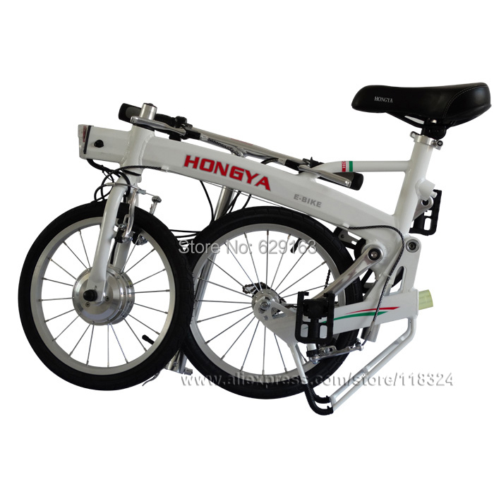 Free Shipping Lithium Battery Alu alloy Light and handy comfortable Folding electric bike Portable Electric Bicycle
