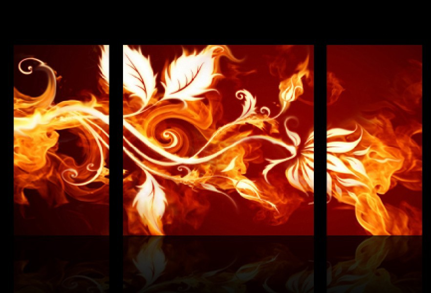 3 Piece Free Shipping Hot Sell Modern Wall Painting Home Decorative Art Picture Paint on Canvas Prints The flame of branches(China (Mainland))