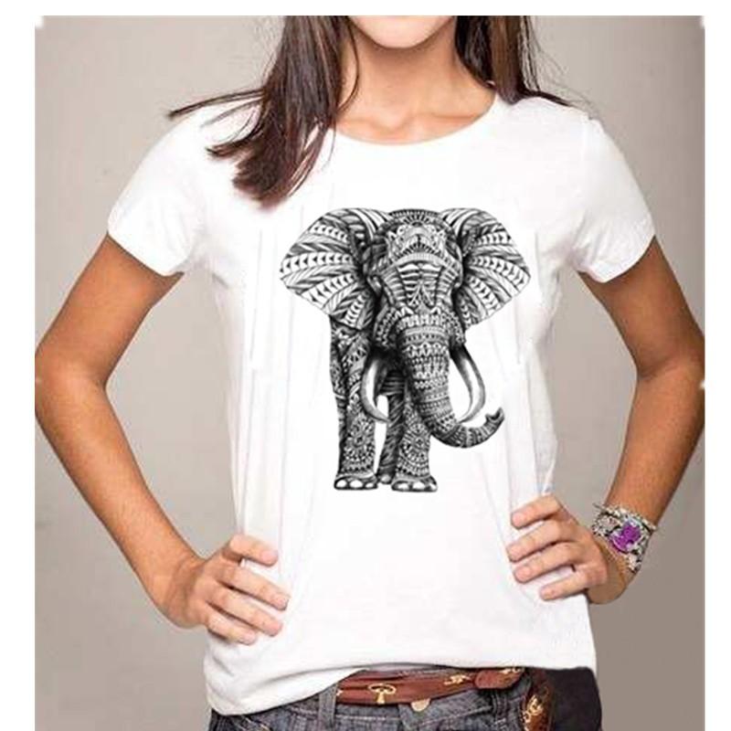 Elephant printing t shirts women tops loose t shirt mujer for Elephant t shirt women s