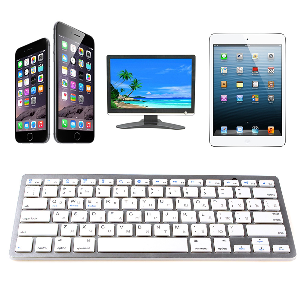 Utra-thin & Lightweight Slim Mini Bluetooth Wireless Keyboard For Win8 XP IOS Android(China (Mainland))
