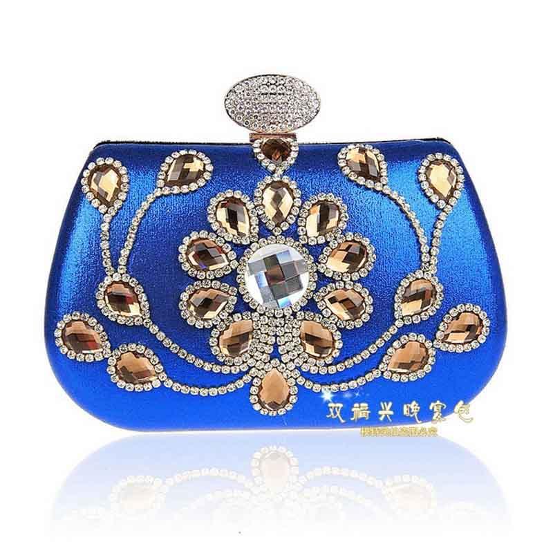 2016 Women Color Rhinestone Clutch/Party Wedding Evening Bag Top Quality Luxury Dance Part Bag femininas bolsas handbag XA411B(China (Mainland))