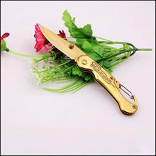 HIGH QUALITY golden Outdoor Portable Multifunction Knife Survival hunting knife folding blade knife camping knife saber