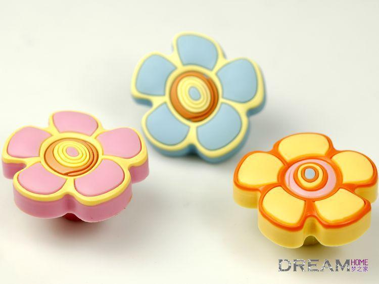 flower series girl cartoon knob, dresser Knobs for girl room,Baby room cute dresser knob Nursery Decor<br><br>Aliexpress