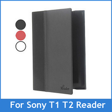 For Sony PRS-T1 PRS-T2 Digital Ebook Reader case Leather Cover for Sony prs t1 t2 Ebook Reader Free Shipping