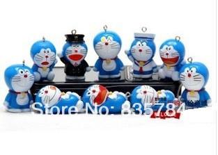 2014 Garage kit doraemon toy Pokonyan soft plastic doll model pendant keychain mobile cartoon character - Theresa Peng Plush Toy Store store