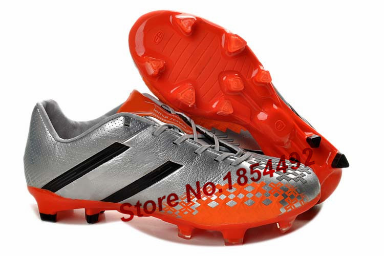 Hot sale football shoes AG soccer training shoes leather soccer cleats free shipping(China (Mainland))