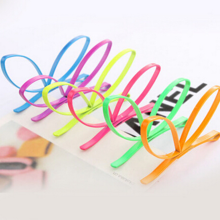 Hello Kitty Mix 10$ Hair Accessories woman recommended colorful magic rabbit ear Metal hairpin Creative fluorescence Hair Clamp(China (Mainland))