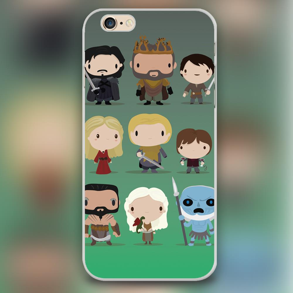 Mini Game of thrones characters Design case cover cell mobile phone cases for Apple iphone 4 4s 5 5c 5s 6 6s 6plus hard shell