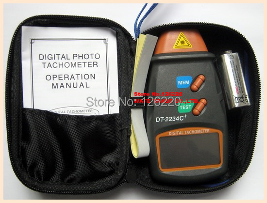 Non contact type photoelectric tachometer digital speedometer DT2234C digital laser tachometer