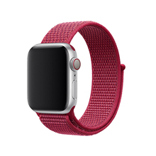 Для Apple Watch серии группа 3/2/1 38 мм 42 мм нейлон мягкие дышащие нейлон для iWatch замена группы спортивные петли series4 40 мм 44 мм(China)