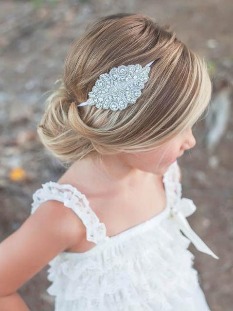 Новый девочку горный хрусталь повязка на голову для аксессуаров для волос кристалл ...