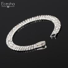 Buy Ecesha Bling Austrian Crystal Chain Bracelet Female Charm Multilayer Rhinestone Bracelets Women Bridal Wedding Jewelry for $1.46 in AliExpress store