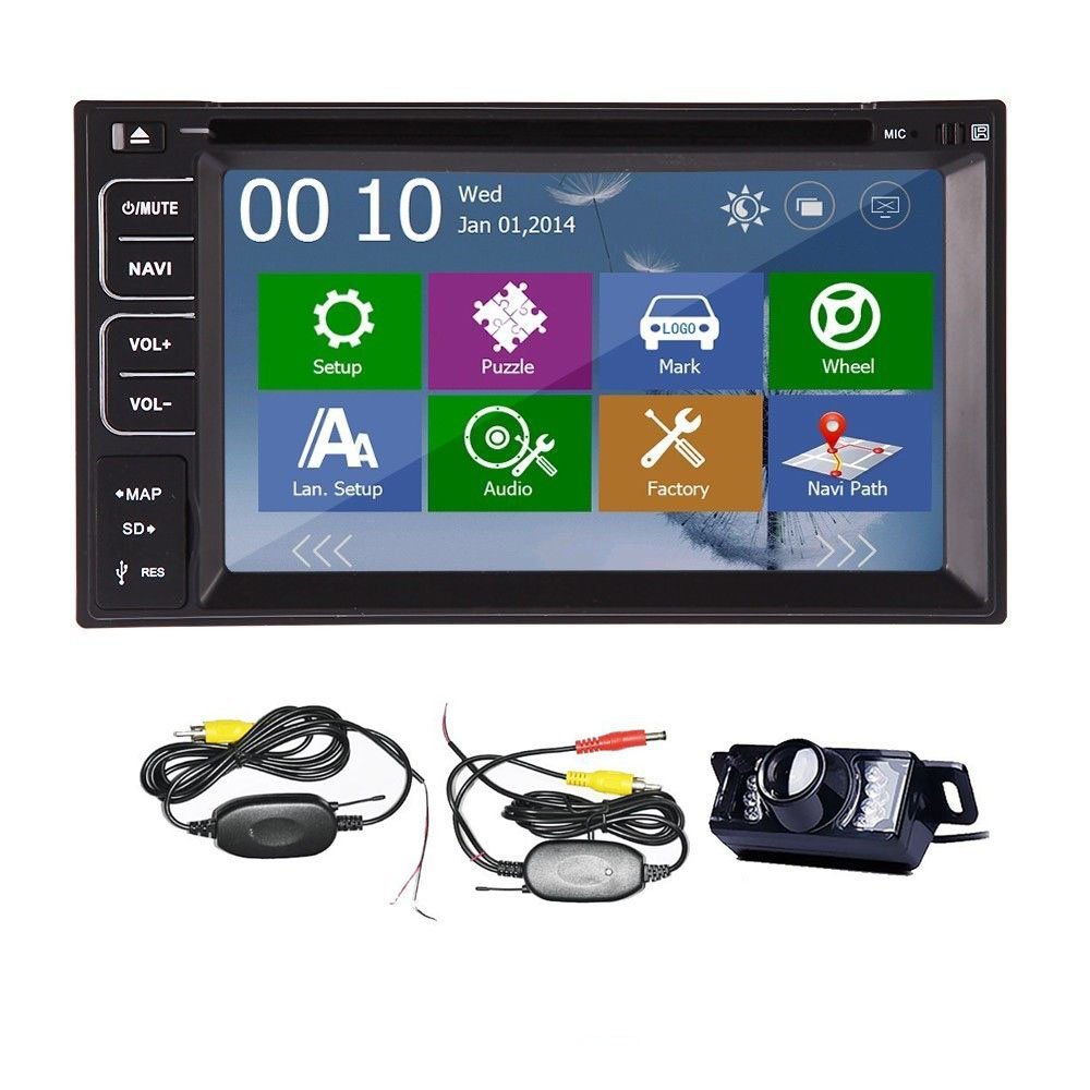 Win CE 8.0 UI In-dash 2 Din Car DVD Player Stereo Radio Bluetooth MP3 MP4 RDS FM AM+Rear View Camera + 4 GB GPS Map Card(China (Mainland))