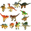 Random 12pcs set Cartoon Movie Jurassic Park Action Figures Toys 9cm Dinosaur PVC Model Collection Doll