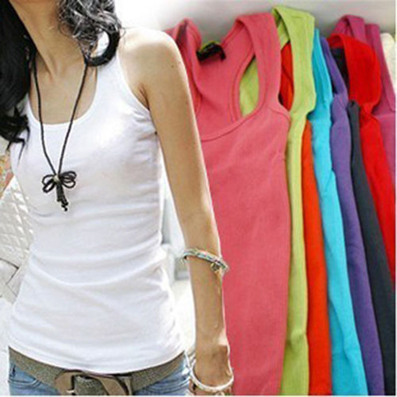 NEW 1 PC Casual Wild Women's Sleeveless Tank Tops Cami No Sleeve T-Shirt Vest(China (Mainland))