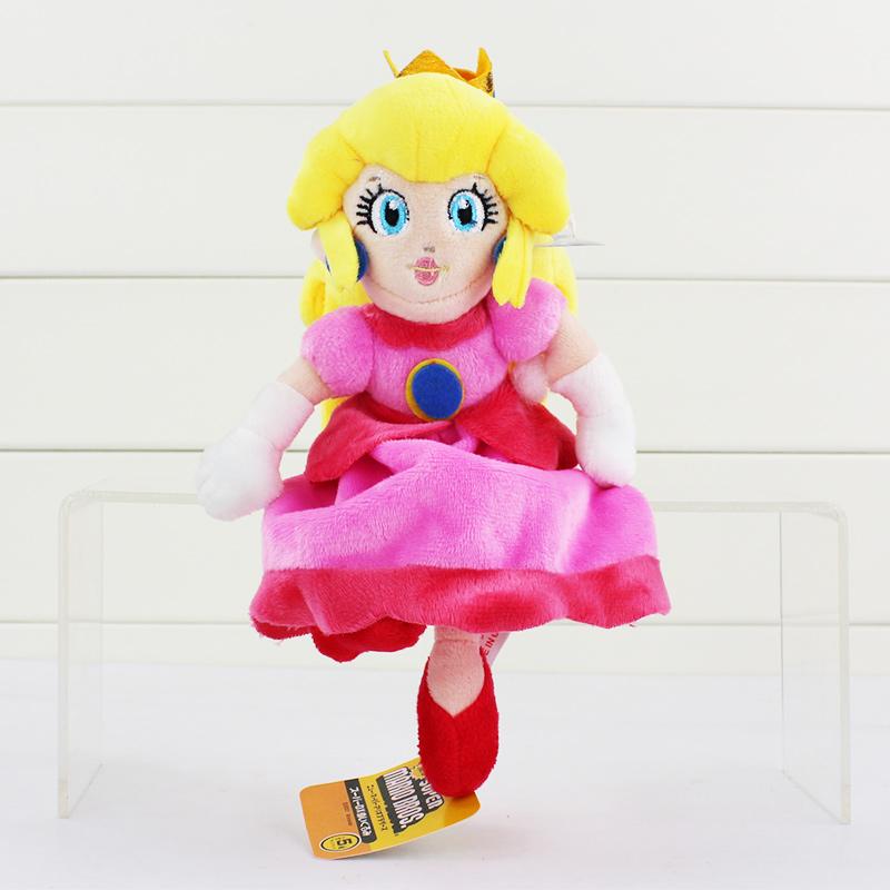 EMS 150pcs/lot Princess Peach Super Mario Stuffed 22cm Animals Plush Toys With Tag Soft Doll Free Shipping<br><br>Aliexpress