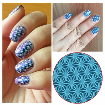 WUF 1 Pc Round Nail Stamping Template Negative Space Geometry Stamp Nail 5.5cm Nails Nail Stamping Plate