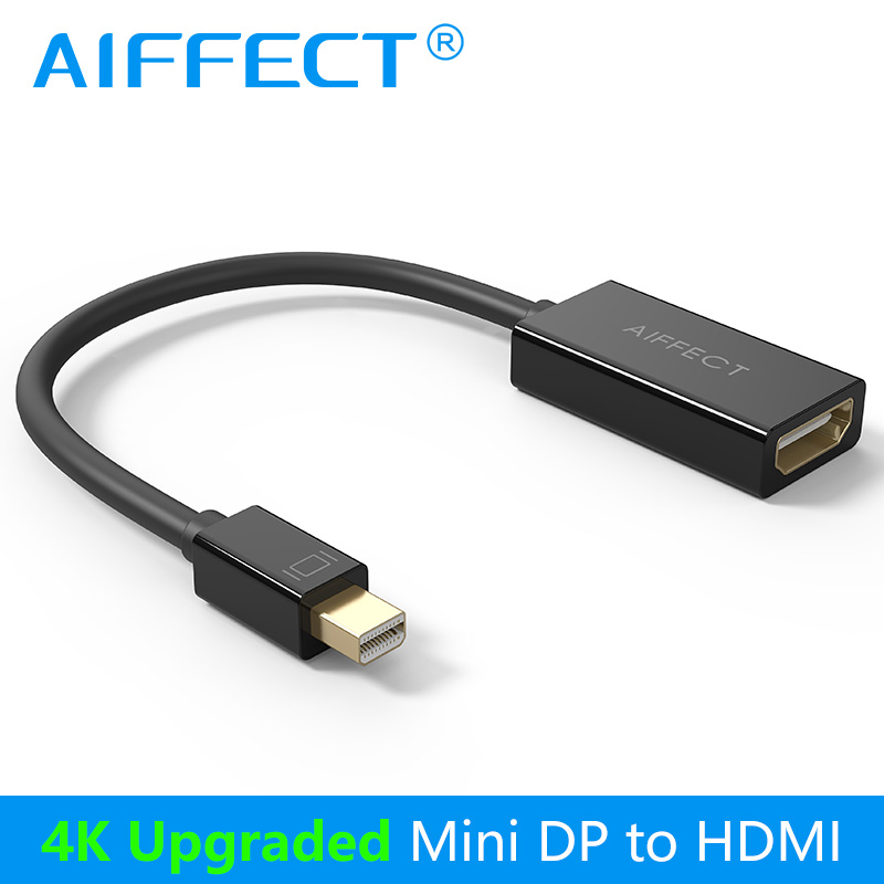 AIFFECT 4K Mini DP to HDMI UHD Adapter Mini DisplayPort Thunderbolt Port HDMI Female Ultra HD Cable Converter 5288(China (Mainland))