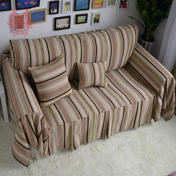 High quality cotton/linen Sofa cover Modern style coffee striped slipcovers for top fashion sofa,Canape home textiles SP1238