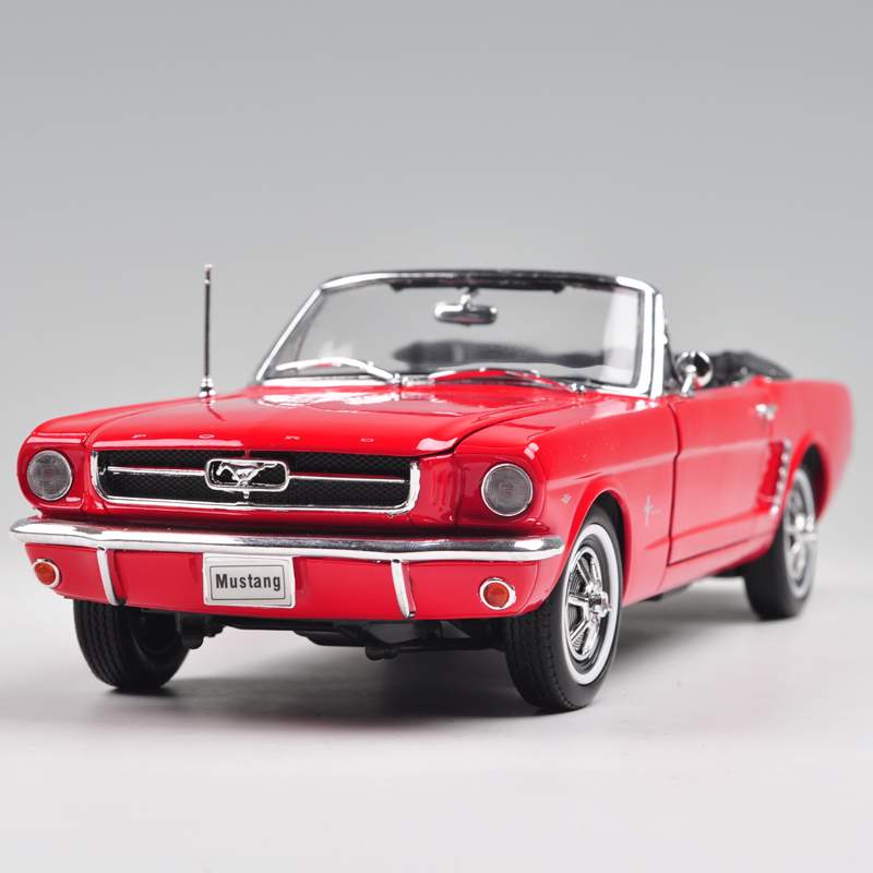 WELLY 1/18 Scale Car Model USA 1964 Ford Mustang Convertible Diecast Metal Car Model Toy For Collection/Gift/Kids/Decoration(China (Mainland))