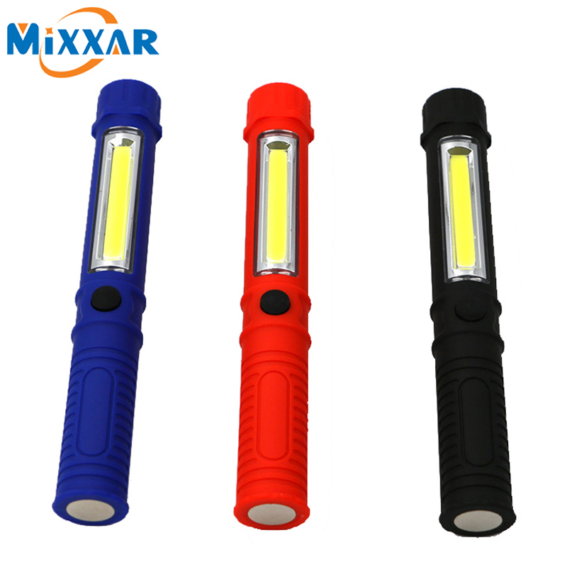 zk54 LED COB Mini Pen Multifunction LED Torch Light cob Handle work flashlight Work Hand Torch Flashlight With the Bottom Magnet(China (Mainland))