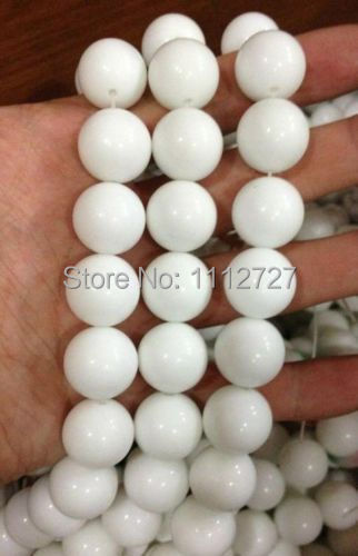 "The new 18mm White Tridacna Coral 2014 Gigas Stone Round Loose fashion Beads Jewelry Natural Stone 15""BV254 Wholesale Price(China (Mainland))"