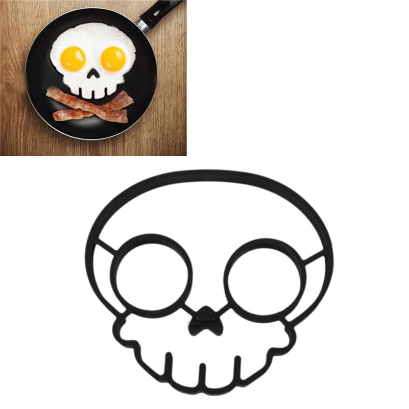 2015 unique design Silicone Rubber egg mould Non-stick Fried Frying Pancake Mold Rings Cooking Skull Egg mold kitchen tool - East Closet store