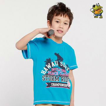 OK Freeshipping summer Children boy Kids baby blue White short sleeve casual sports 100% cotton shirt T-shirt top PEXZ01P61