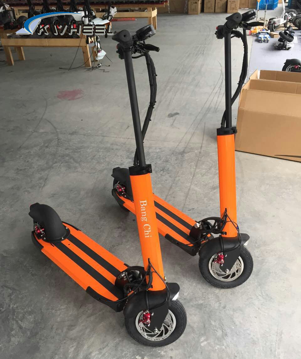2015 500W Powerful Colorful Two Wheel Mini Foldable Electric Scooter 48V 13A Lithium E-Bike Disc Brake 10 inch wheel E-Scooter(China (Mainland))