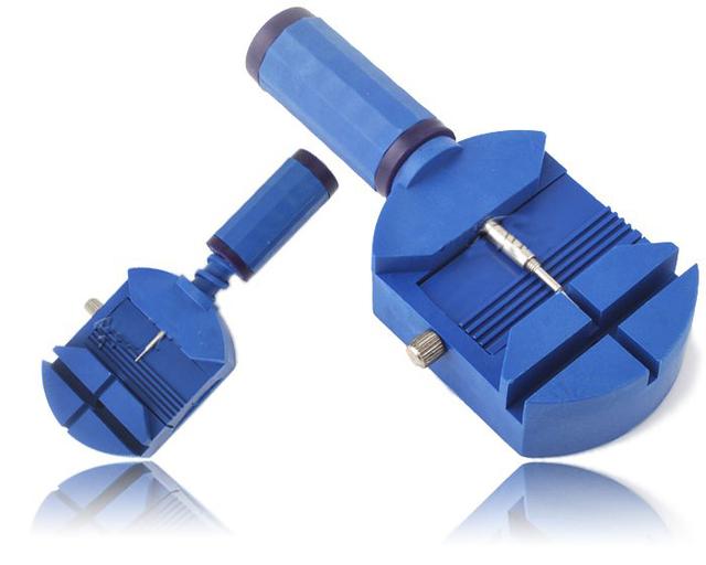Часовой браслет ссылка ремень булавка для удаления отрегулировать ремонт инструмент, Часов ремонт инструмент синий цвет