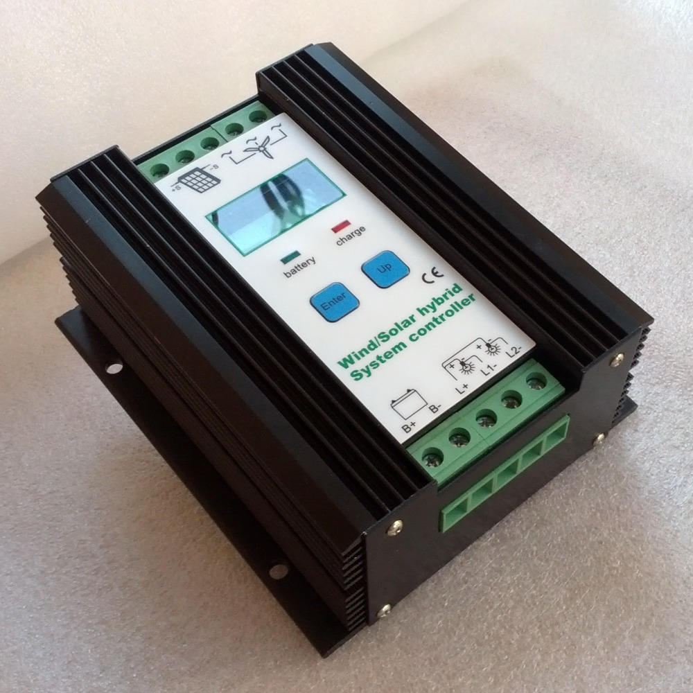 900W 40A Wind Solar Hybrid Controller 12V 24V, 600W Wind+Solar 300W (parameters can be custom-made) Battery Charge Regulator(China (Mainland))