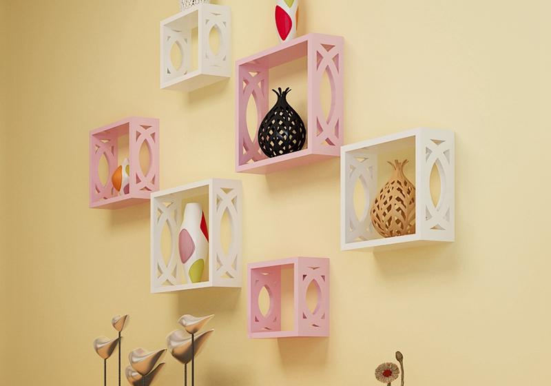 Фотография Carved wall shelf bracket shelving