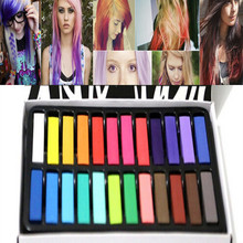 24 Colors/set Fashion Hair Chalk Fashion Color Hair Chalk Dye Pastels Temporary Pastel Hair Extension Dye Chalk Hot Crayons(China (Mainland))