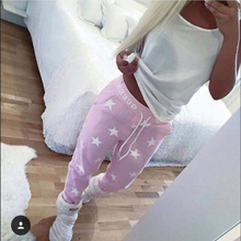 Gagaopt 2016 new springs loose sport pants women printed star casual  long trousers high quality training spring Sweatpants(China (Mainland))