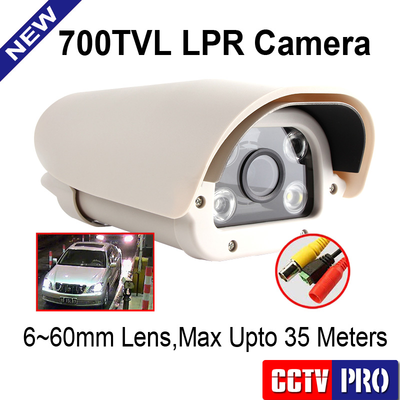 HSBLC License Plate Recognition LPR Vehicles Waterproof CCTV Camera Use In Motorways/Carpark With OSD, Sony 700TVL,6-60mm Lens(China (Mainland))