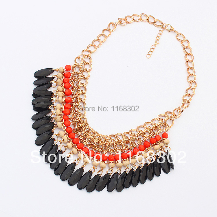 free shipping multy color cheap price plastic necklace