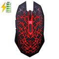 M6 2 4GHz Wireless Silent Rechargeable Mouse LED Backlit USB 2400DPI Optical Gaming Mouse Gamer Ergonomic