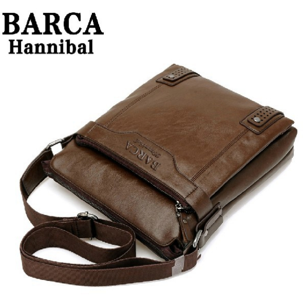 2014 New Leather Men Messenger Bags Fashion Casual Business Shoulder Handbags for man Free Shipping M206(China (Mainland))